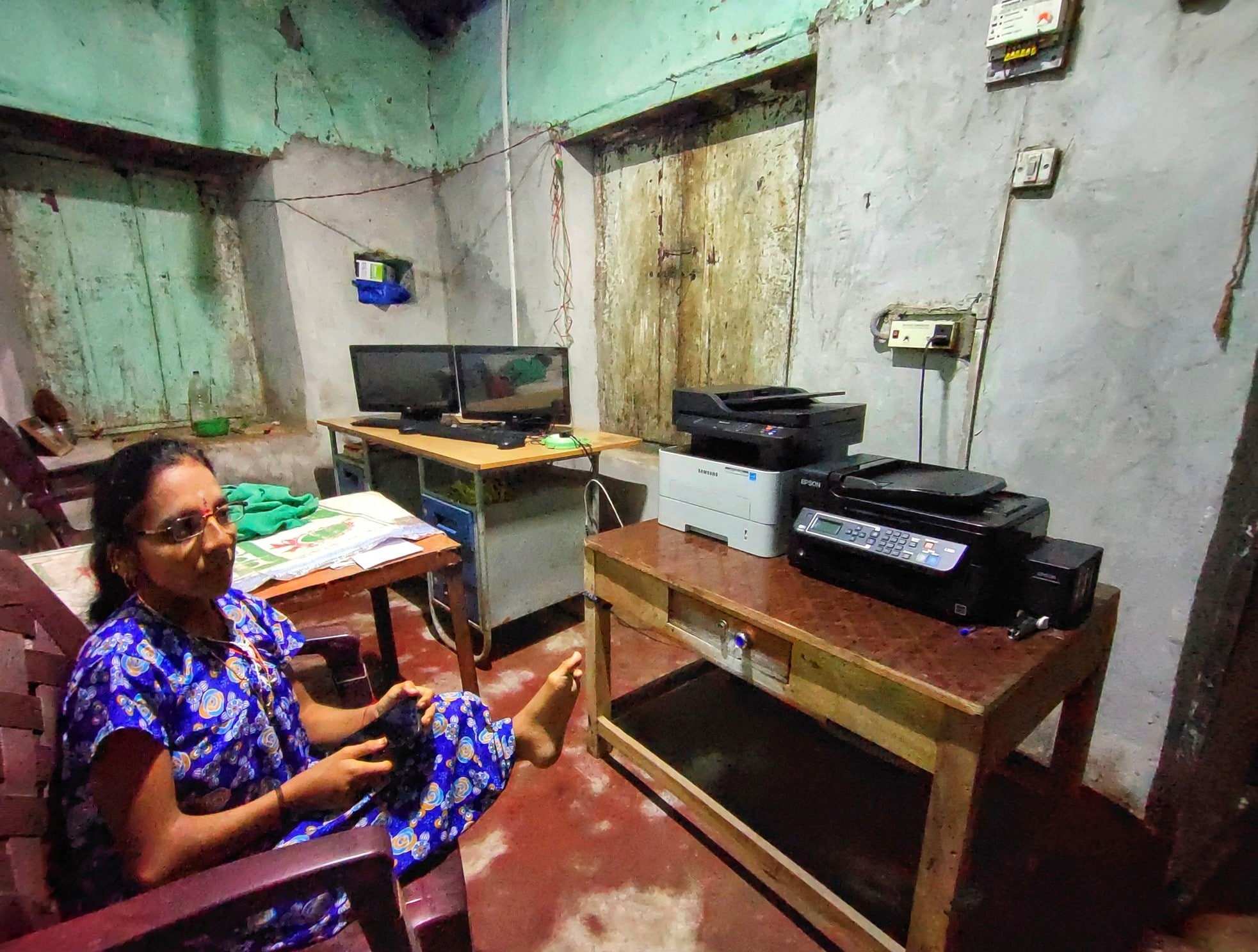 Sridevi Melavanki is specially abled person from Bailhongal. She opted SELCO Solar powered photocopy machine for her livelihood