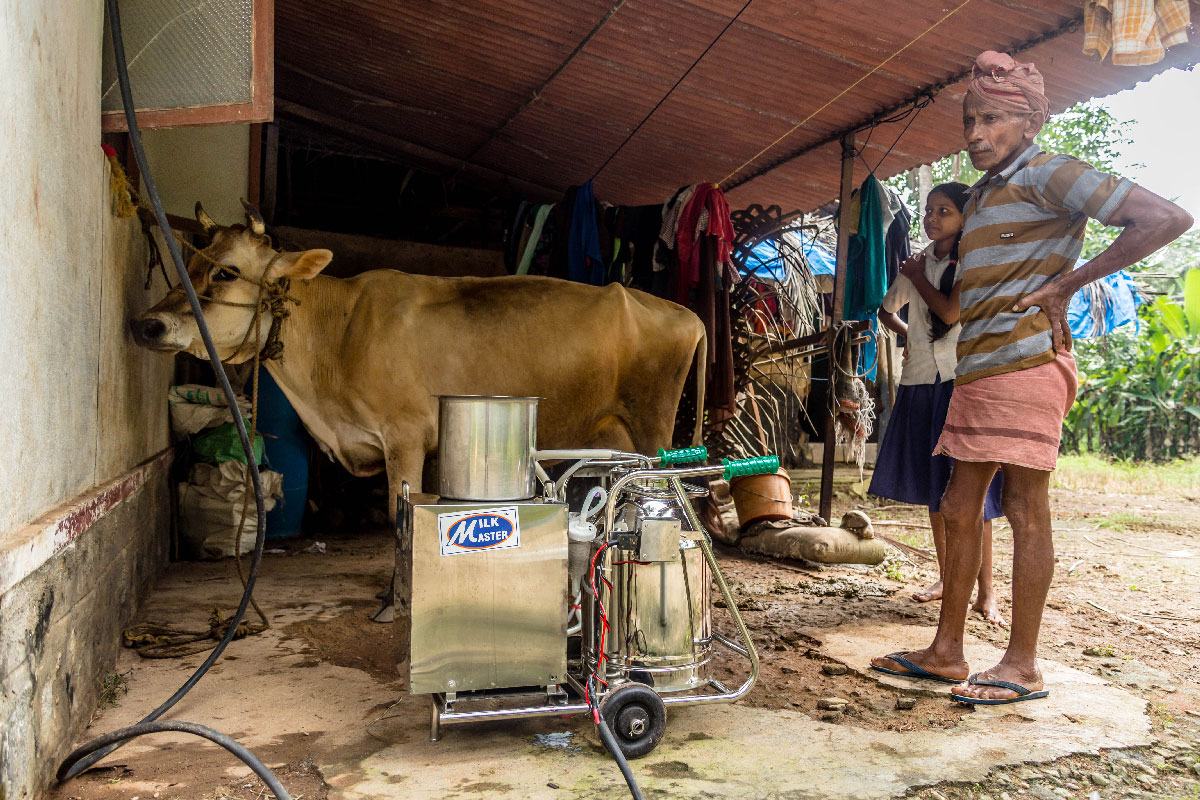 Solar powered Milking Machine - M.M. Hills