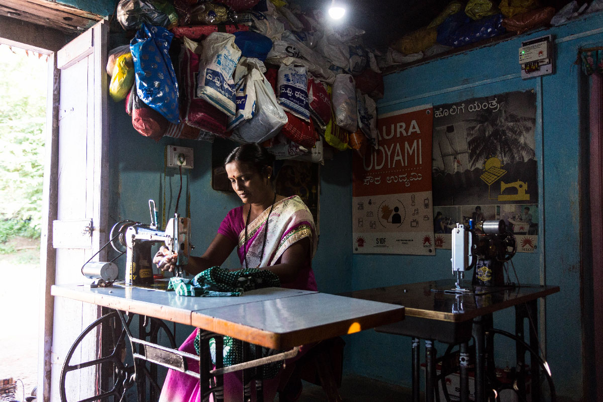 Solar powered Sewing Machine